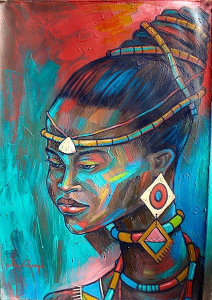 Amakai Princess - Rep: TrueAfricanArt.com