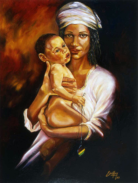Mother and Child by Michael Escoffery