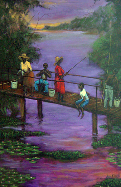 Family Fishing by Ted Ellis
