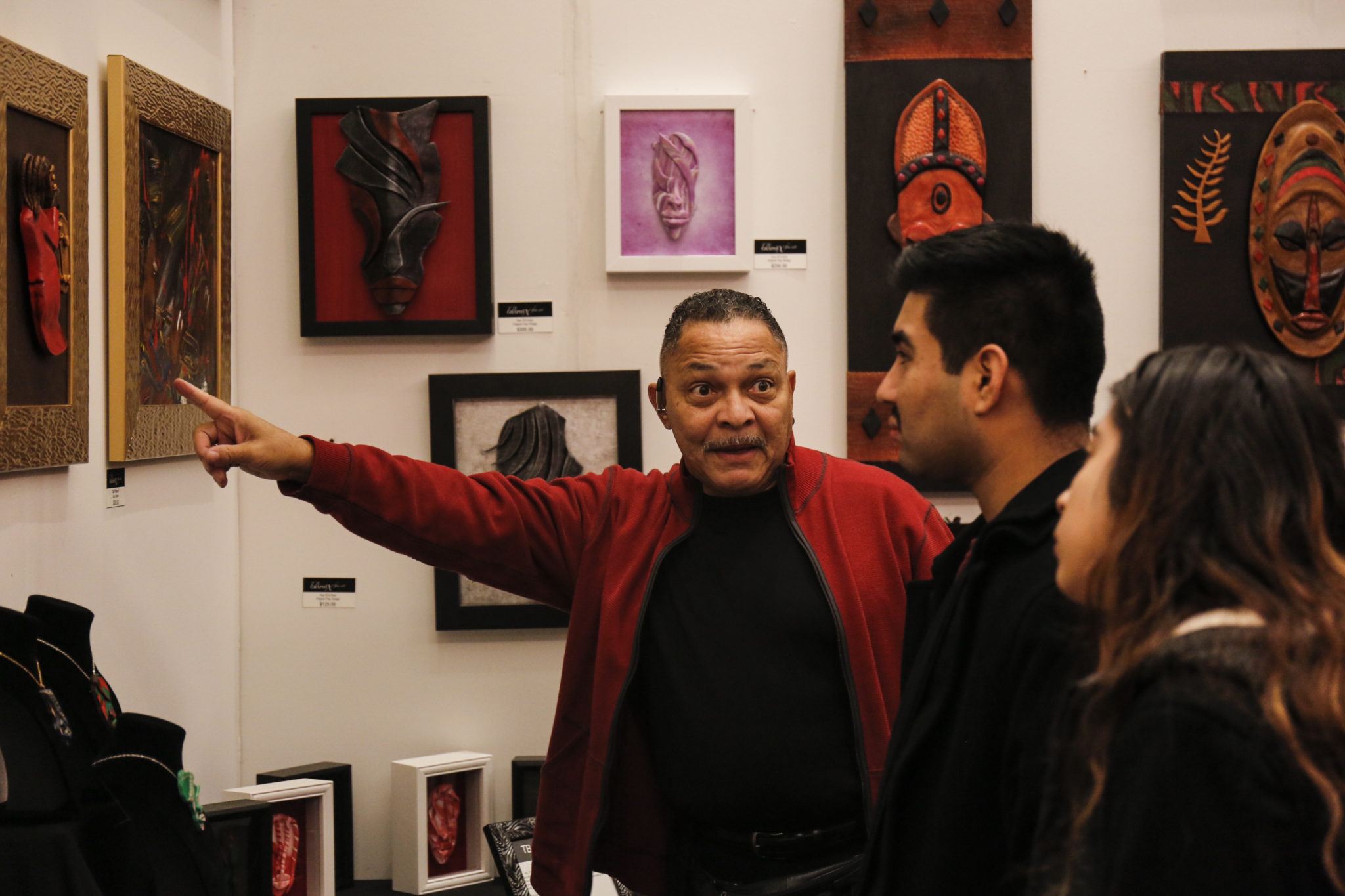 Local students get the opportunity to discuss art with Artist Terry Boykin