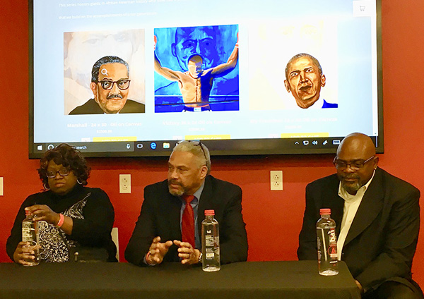 Don O'Bannon explains his art with Minnie Watkins & Timothy Giles – Artists Panel
