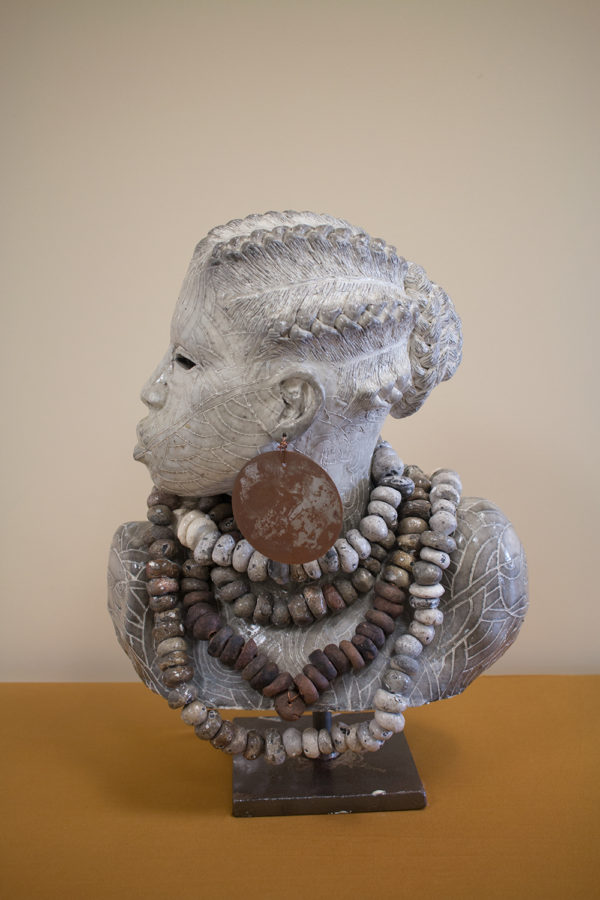 Woodrow Nash female bust sculpture